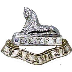 Royal Anglian Regiment - 2nd Battalion FL - Sphinx  Anodised Staybrite collar badge