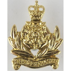 Intelligence Corps  with Queen Elizabeth's Crown. Anodised Staybrite collar badge