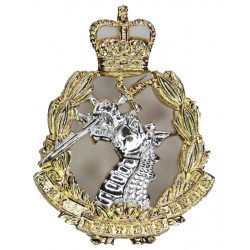 King's Own Yorkshire Light Infantry Mouthpiece FR  Anodised Staybrite collar badge
