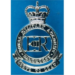 Royal Military Academy Sandhurst Rare - Band Only with Queen Elizabeth's Crown. Anodised Staybrite collar badge