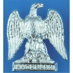 Cambridge University Officers Training Corps Queen's Crown. Anodised Staybrite collar badge