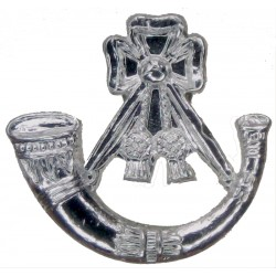 Light Infantry - Small Size Bugle Mouthpiece FR  Anodised Staybrite collar badge