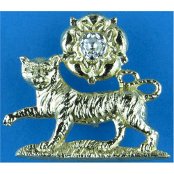 Royal Scots (The Royal Regiment) FL - Gold Colour  Anodised Staybrite collar badge
