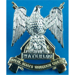 Royal Scots Dragoon Guards FR - Eagle  Anodised Staybrite collar badge