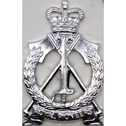 King's Royal Hussars - PoW Feathers 23mm High  Anodised Staybrite collar badge