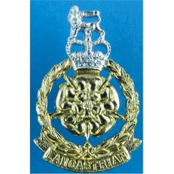 Ulster Defence Regiment FR with Queen Elizabeth's Crown. Anodised Staybrite collar badge