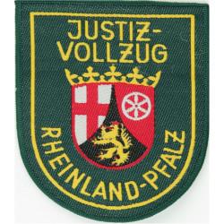 German Prisons - Rheinland-Pfalz Justiz-Vollzug Arm Shield On Green  Woven Overseas Police, Prison or Corrections insignia