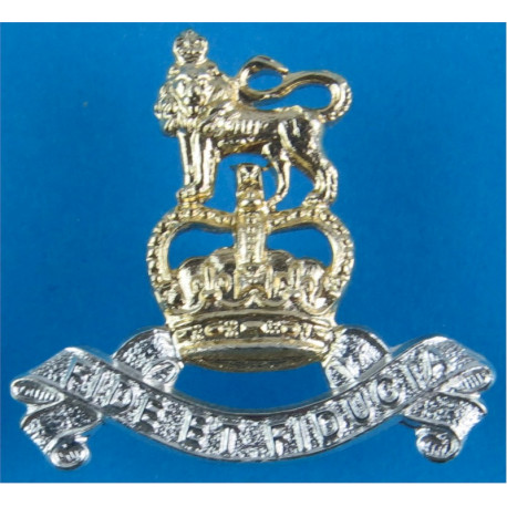 Royal Regiment of Fusiliers FL with Queen Elizabeth's Crown. Anodised Staybrite collar badge