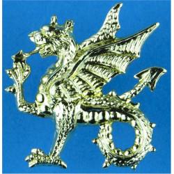 Wessex Regiment (Volunteers) - Wyvern FL - Gold Colour  Anodised Staybrite collar badge