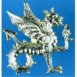 Wessex Regiment (Volunteers) - Wyvern FR - Gold Colour  Anodised Staybrite collar badge