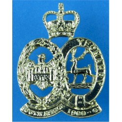 201 (Hertfordshire & Bedfordshire Yeomanry) Battery 100 Regt RA (V) with Queen Elizabeth's Crown. Anodised Staybrite collar badg