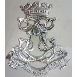13th Bn London Regiment (Kensington) (now Royal Signals)  Anodised Staybrite collar badge