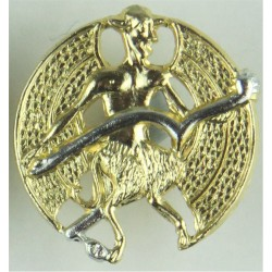 Inns Of Court & City Yeomanry - FR Winged Devil On Spur  Anodised Staybrite collar badge