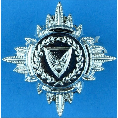 Cyprus Police Inspector's Rank Star (pip) 19mm Side  Chrome-plated Overseas Police, Prison or Corrections insignia