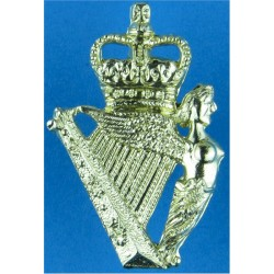 Royal Signals (Officers') FR  Silver-plate and gilt Officers' collar badge