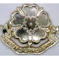 Queen's Lancashire Regiment (Early Type - All Gold)   Anodised Staybrite collar badge