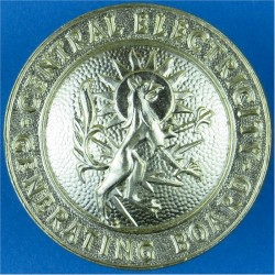 Central Electricity Generating Board FR - 1957-1990  Anodised Staybrite collar badge