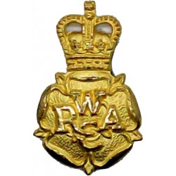 Women's Royal Army Corps (Officers')  with Queen Elizabeth's Crown. Gilt Officers' collar badge