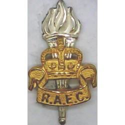 Royal Army Educational Corps 1952-1993 with Queen Elizabeth's Crown. Silver-plate and gilt Officers' collar badge