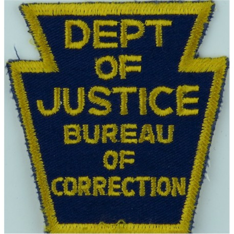 USA: Pennsylvania: Clarion County Prison Arm Badge Embroidered Overseas Police, Prison or Corrections insignia