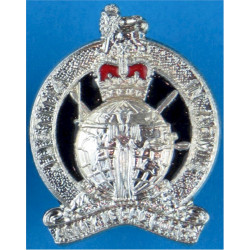 Army Legal Corps (not Services) Post-1978 FL with Queen Elizabeth's Crown. Silver-plated and enamel Officers' collar badge