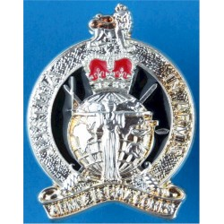 Army Legal Corps (not Services) Post-1978 FR with Queen Elizabeth's Crown. Silver-plated and enamel Officers' collar badge