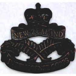 New Zealand Intelligence Corps  with Queen Elizabeth's Crown. Bronze Officers' collar badge