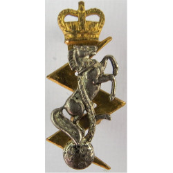 Queen's Royal Hussars (Queen's Own And Royal Irish) FR - Horse  Silver-plated Officers' collar badge