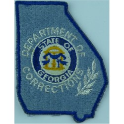 USA: State Of Georgia Department Of Corrections Arm Badge  Embroidered Overseas Police, Prison or Corrections insignia