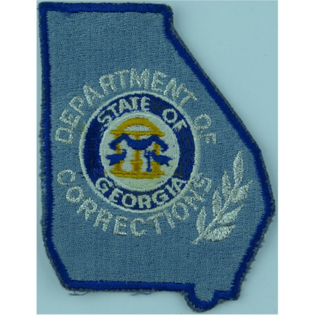 Australia: Queensland Corrective Services Arm Badge with Queen Elizabeth's Crown. Embroidered Overseas Police, Prison or Correct