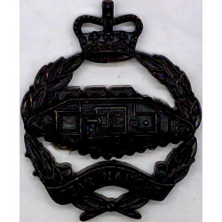 Royal Australian Electrical & Mechanical Engineers FR with Queen Elizabeth's Crown. Silver-plate and gilt Officers' collar badge