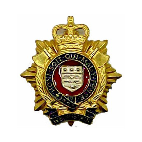Royal Gloucestershire Berkshire & Wiltshire Regiment FR - Sphinx  Silver-plate and gilt Officers' collar badge