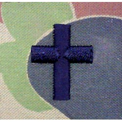 Australian Army Chaplains Shirt Collar Cross On Aus Camouflage  Embroidered Officers' collar badge