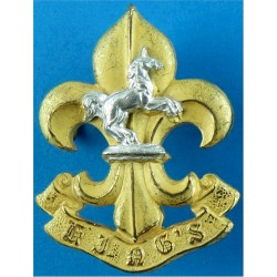 Adjutant General's Corps (Education & Training Serv) Queen's Crown. Silver-plate and gilt Officers' collar badge