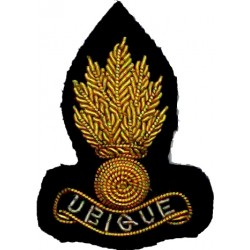 Royal Engineers (Officers') - Ubique - For Mess Kit 9-Flamed Grenade  Bullion wire-embroidered Officers' collar badge