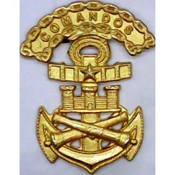 Chile Marine Comandos   Gilt Officers' collar badge