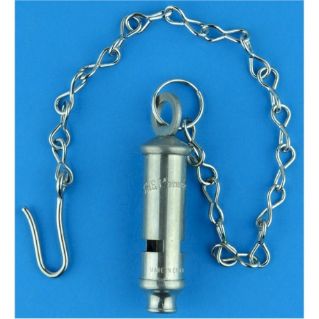 Metropolitan Police Whistle With Chain & Hook   Chrome-plated