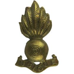 Royal Artillery 7-Flame Grenade  Brass Other Ranks' collar badge