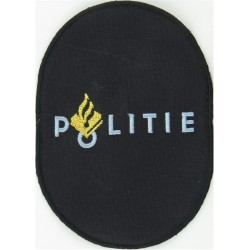 Netherlands Police - Politie Large Upright Oval  Embroidered Overseas Police, Prison or Corrections insignia