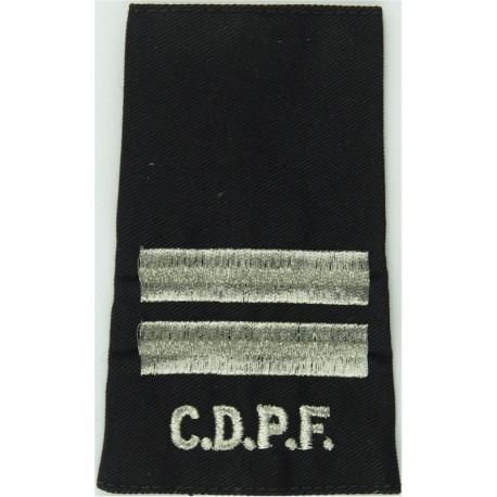CDPF (Commonwealth Of Dominica Police Force) +2 Bars Rank Slide  Mylar Overseas Police, Prison or Corrections insignia