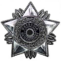 Malaya Police Rank Star - Bersedia Berkhidmat Large  Chrome and enamelled Overseas Police, Prison or Corrections insignia