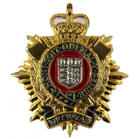 Royal Logistic Corps FL - 1993-2003 with Queen Elizabeth's Crown. Silver-plated, gilt and enamel Other Ranks' collar badge