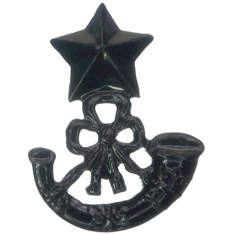 Cameronians (Scottish Rifles) Mouthpiece FL  Blackened Other Ranks' collar badge