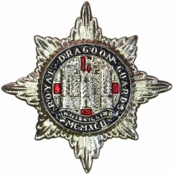 Royal Dragoon Guards - Enamelled Flag To Right  Silver-plated and enamel Other Ranks' collar badge