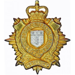 Royal Logistic Corps FR - 2003 Issue with Queen Elizabeth's Crown. Silver-plate and gilt Other Ranks' collar badge