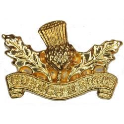Royal Regiment Of Scotland - Cuidich 'n Righ FL Thistle  Gilt Other Ranks' collar badge