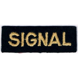 Signal (Shoulder Title) Yellow On Dark Blue  Embroidered Civil Defence