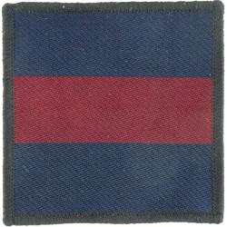 Guards - 72mm X 72mm (Pattern Worn In Gulf / Bosnia) Blue/Maroon/Blue  Woven Parachute DZ (Drop-Zone) Patch