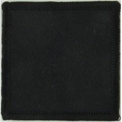 Parachute Regiment - 4th Battalion - Support Company Black Square (50mm)  Woven Parachute DZ (Drop-Zone) Patch