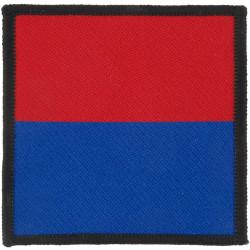 16 Air Assault Bde - 7 Para Royal Horse Artillery Red/Blue Square  Woven Parachute DZ (Drop-Zone) Patch